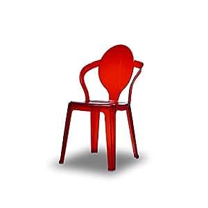 Chaise Spoon Scab Rouge Transparent