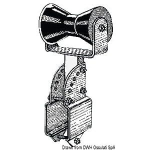 Rullo centrale per tubo quadro 80 x 80 mm