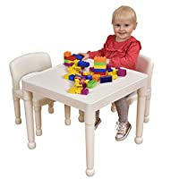 Liberty House Toys Table and Chair Set, White, Small