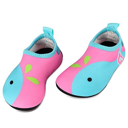 Tagvo Baby Mädchen Wasser Schuhe, schnell trocknende barfuß Haut Aqua Socken Schwimmen Schuhe für Strand Pool