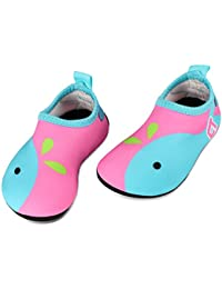 TAGVO Baby Boy Girl Water Shoes, Quick Drying Barefoot Skin Aqua Sock Swim Shoes for Beach Pool