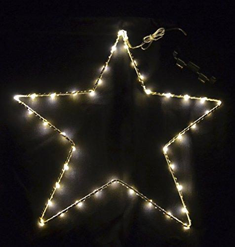 Dadeldo Licht Stern mit LED Beleuchtung Metall Timer In-Outdoor (30x30cm)