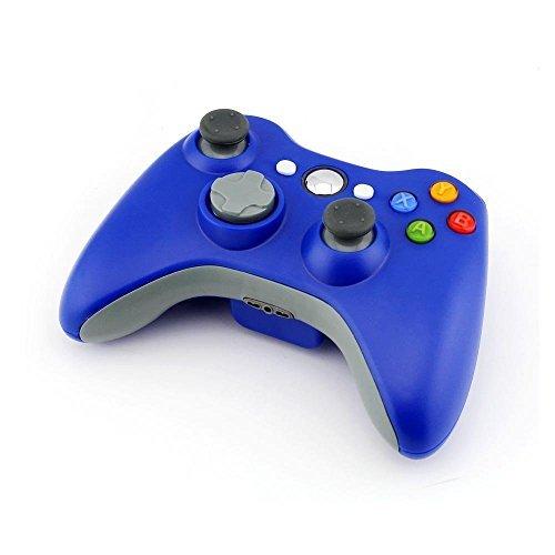 Stoga STB02 Nuevo Mando a Distancia Inalámbrico Del Teclado Microsoft Xbox 360 PC Windows 7 XP Whit Joypad (Azul)