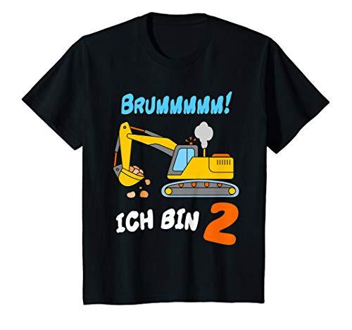 Kinder T Shirt Bagger 2 Jahre Geburtstagsshirt Kleinkind Junge -