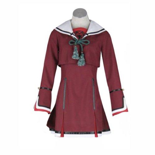 Tamaki Kostüm Cosplay - Dream2Reality Hiiro no Kakera 3 Soukoku no Kusabi Cosplay Kostuem -Kasuga Tamaki Winter School Uniform 2nd Ver Medium