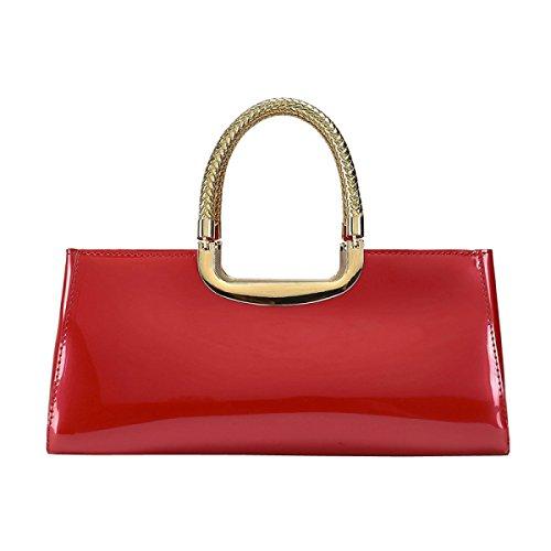 LAIDAYE Frau Mode Lackleder Abendtaschen Hand 6