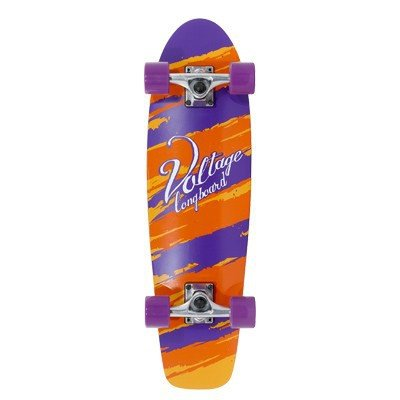 Voltage Oldschool Skateboard Wood Cruiser Komplettboard Orange/Purple - Old School Complete Skateboard - Longboard Cruiser - Special Edition mit Koston Kugellagern!!!