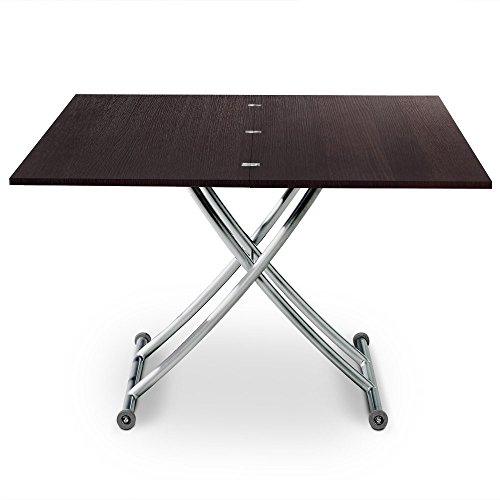 Intense Déco - Table basse relevable Philadelphia Bois wenge