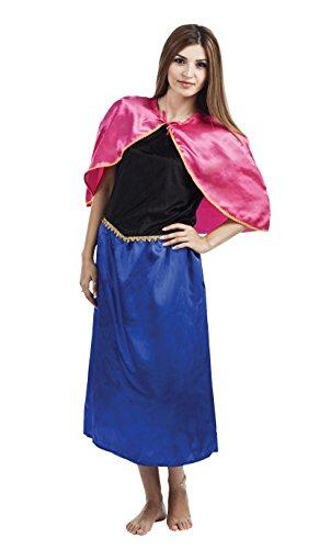 Königin Eis Für Erwachsene Kostüm - P 'tit Clown re14163-Kostüm Erwachsene Königin der Eis Blau und Rosa