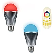 ENRG New LED Bulb Prism- Fully Remote Controlled with 256 Colours- Set of 2pc Prism Bulb & 1 Remote - 2 Year Warranty MFN 5221076