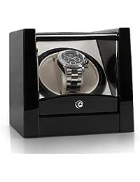 Klarstein 8PT1S caja para relojes (compacto, amplia ventana transparente, movimiento rotativo, motor silencioso) - negro