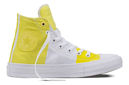 Converse Unisex-Erwachsene Chuck Taylor All Star II Hohe Sneaker Gelb (Fresh Yellow/White/White)