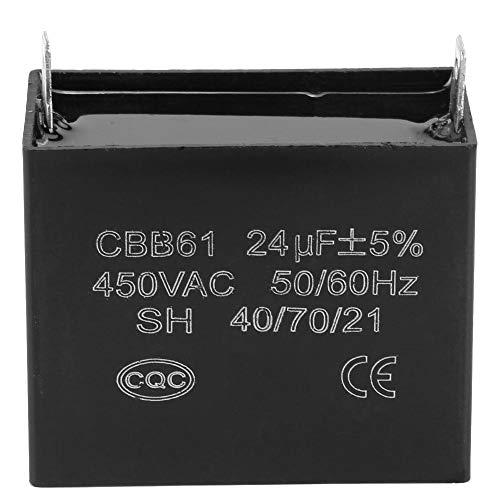 Capacitor, 450V AC 24uF 50 / 60Hz Condensador de Arranque para Generadores...