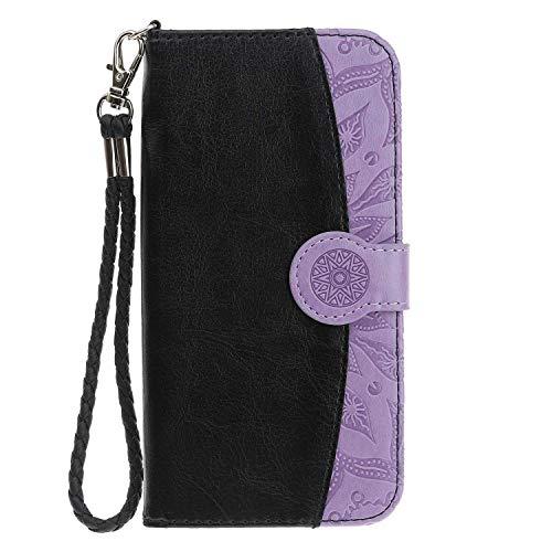 Bear Village® iPhone SE/iPhone 5 5s Hülle, Premium Brieftasche Schutzhülle mit Weich TPU Innere, Magnet Klapp Ständer Leder Hülle für Apple iPhone SE/iPhone 5 5s, Schwarz 1 (Und Brieftasche 1)