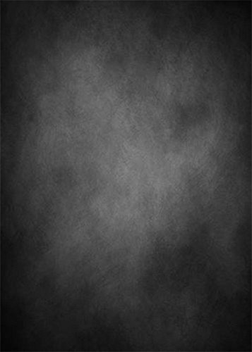 YongFoto 1,5x2,2m Vinyl Foto Hintergrund Abstrakt Schwarz Grau Jahrgang Grunge Solide Textur Mauer Fotografie Hintergrund für Fotoshooting Portraitfotos Fotografen Kinder Fotostudio Requisiten