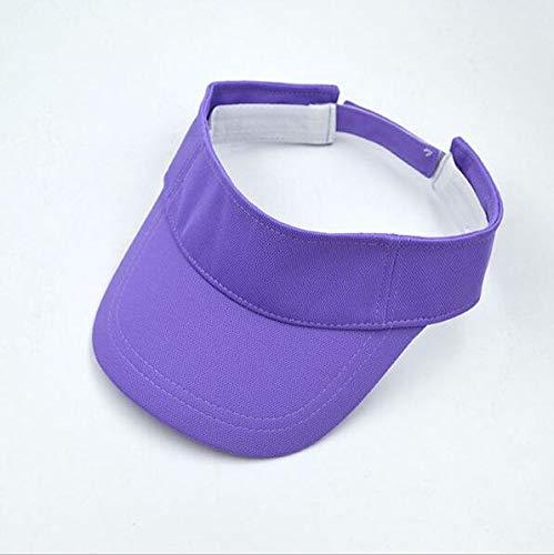 POIUIU Visier Männer Frauen Sommer Solide Visier Sun Plain Hut Mode Ajustable Leere Top Unisex Sonnenschutzkappe Lila