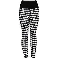Liquidación Mujeres Pantalones de Cintura Alta Yoga Leggings de la Aptitud Estiramiento Deportes Pantalones Corrientes (Negro, M)