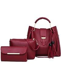 98e32e2e1 Luckycat Bolso de mujer de moda Bolso de mano grande Bolsos de hombro  Mujeres Moda PU Mano bolso de cuero + bolso de hombro + Billetera…