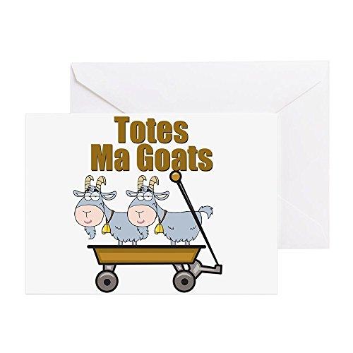 Goats - Grußkarte, Notizkarte, Geburtstagskarte, blanko Innenseite matt ()