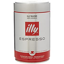 Illy Espresso Ground Coffee 250g (Pack of 1)