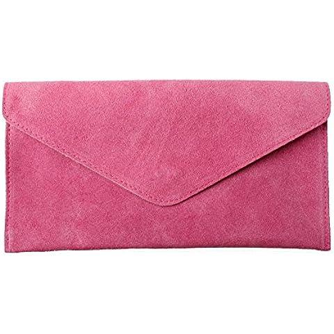 Accessoryo - ante del fucsia bolsa de embrague envoltura de las mujeres