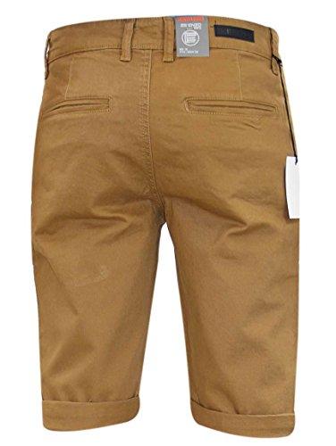 Uomini Designer Enzo EZS348 di marca dei jeans del denim di cotone Chino bermuda pantaloni Tan