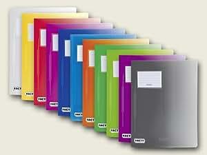 Brunnen Lot de 5protège-documents en polypropylène Pour documents A4 24x 31cm