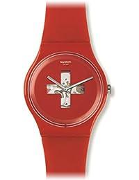 Swatch Unisex Erwachsene Armbanduhr Digital Quarz Silikon SUOR106