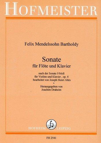 Sonate f-Moll op.4 : für Flöte und Klavier (Flöte Sonaten Klavier Vier Für Und)