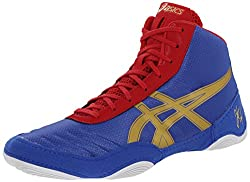 Asics Men's Jb Elite V2.0 Wrestling Shoe, Jet Blueolympic Goldred, 12 M Us