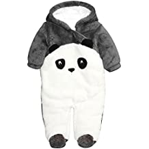 Hibote Nuevo Mono Disfraz de Animal Ropa de Una Pieza Pelele bebe invierno Body Pijama con Capucha para Beb¨¦ Ni?o Ni?a Baby Romper