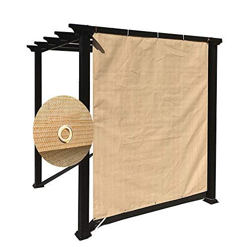 Die Kühlung Additiv (ALGFree Schattierungsnetz Schattengewebe UV-beständig Netzverschlüsselung Isolationswärme Balkon Sonnenraumschattierungsrate 90%,12 Größen (Color : Beige, Size : 6×7m))