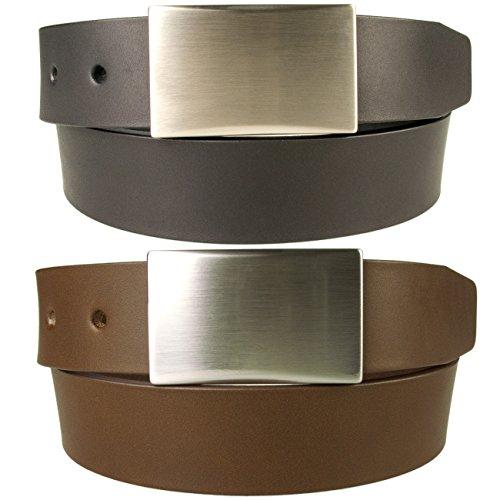 Belt Designs Taille 107-117 cm (XL) - Marron - Ceinture en cuir de qualité pour Homme Fabriqué au Royaume-Uni - (0029)