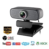 Spedal Full HD Webcam 1080p, Beauty Live Streaming Webcam, computadora portátil cámara para OBS Xbox XSplit Skype Facebook, Compatible para Mac OS Windows 10/8/7