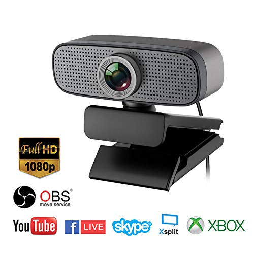 Spedal Full HD Webcam 1080p, Beauty Live Streaming Webcam, Computer Laptop Kamera für OBS Xbox XSplit Skype Facebook, kompatibel für Mac OS Windows 10/8/7