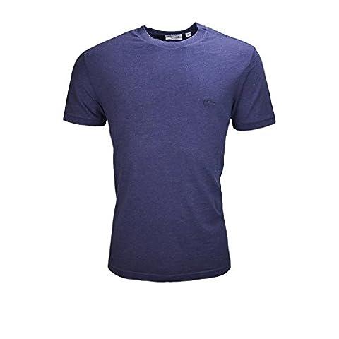 LACOSTE - T-shirt col rond Lacoste bleu marine pour homme - Bleu, 4 - M