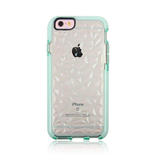 Mobiltelefonhülle - Für iPhone 6 & 6s Diamond Texture TPU Dropproof Schutzmaßnahmen zurück Fall Fall ( Farbe : Schwarz ) Grün