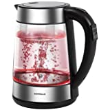 Havells Vetro Digi Kettle 1.7L, 2000W, Glass SS Body