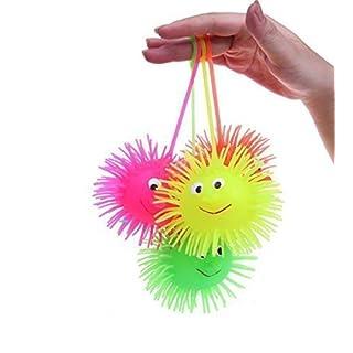 UChic 3PCS glühender Kugel-Kugel-glühender Igel-Elastizität-Haar-Haar-Kugel-Entlüftungs-Spielzeug-Ball-Kind-Spielwaren Lustiges Baby-Spielwaren für Kindergeschenk an der Farbe nach dem Zufall
