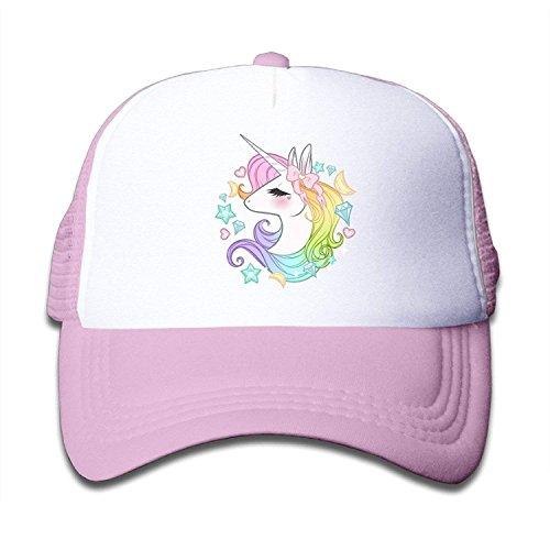 CrownLiny Cute Unicorns Kids Girls Mesh Cap Trucker Hats ()
