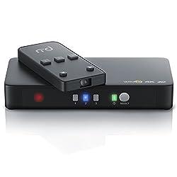 CSL - 4k HDMI Switch / 3 Port Ulta HD HDMI Umschalter inkl. Netzteil | 3D ready / Ultra HD (UHD) 2160p | 3D + CEC | 36-Bit Deep Color | 4k / 2160p bei 30 Hz | HDCP