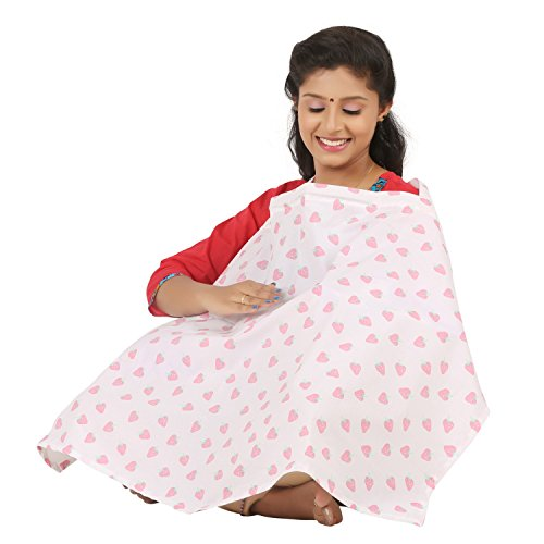 brotherbaby Muslin Poplin Apron/ Nursing / Feeding Cloak/ Maternity Cover(White, PFA16089020)