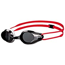 Arena JR Children's Swimming Goggles Glasses for Competition and Training – Tracks Red Smoke/White/Red Size:One Size
