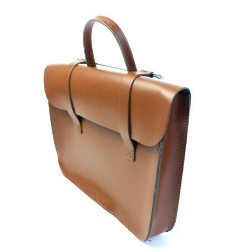 Deluxe Stilvolle Weinlese Echtleder Musik/Laptop Tasche Satchel – Braun (Laptop-aktentaschen Stilvolle)