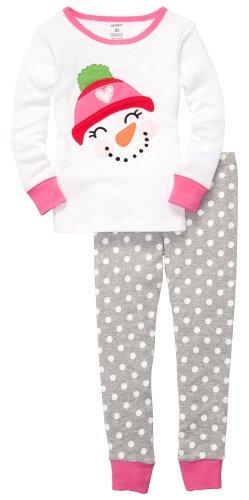 Carter's Schlafanzug Größe Größe 80 Mädchen Zweiteiler Schneemann US SIZE 18 month Weihnachten Christmas (Baumwolle Kinder Carters)