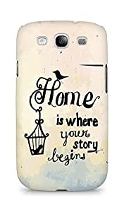 AMEZ home is where your story begins Back Cover For Samsung Galaxy S3 Neo