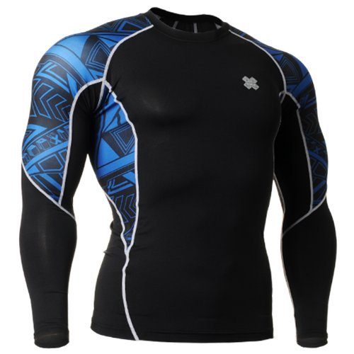 Fixgear Sports Mens Womens Compression Running Underwear Tee Shirt S - 4XL