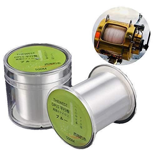 Artwarm 500 m Angelschnur, hohe Starke Spannung, Nylon, Monofilament, Multifilament, Meer-Süßwasser-Angelschnur, 2.0mm