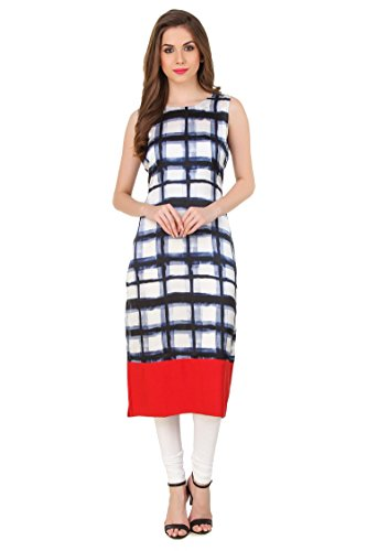 8. Printed Kurti |Designer Crepe Kurti for Womens and Girls by Levazo (SSIK59XL)