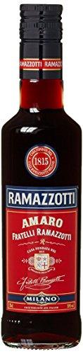 Ramazzotti Amaro/Der italienische Digestif mit 33 verschiedenen Kräutern/Absacker mit perfekter bittersüßen Note/1 x 0,35 L